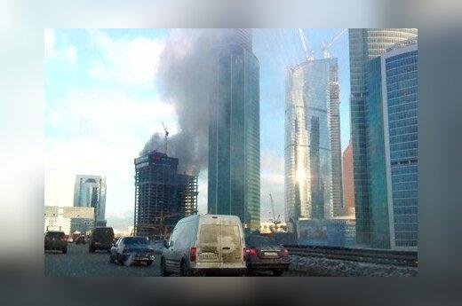 """Очередной пожар в """"Москва-сити"""" потушили"""
