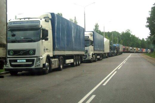 На литовско-белорусской границе – очередь из 200 грузовиков
