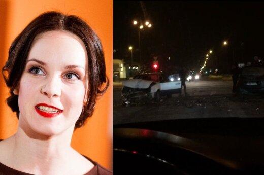 V. Bičkutė trečiadienio vakarą sukėlė eismo įvykį