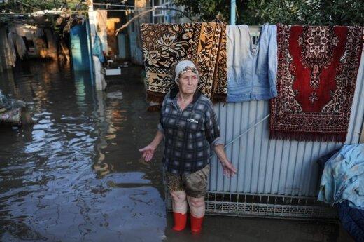 Potvynio padariniai Krymske, Krasnodaro regione