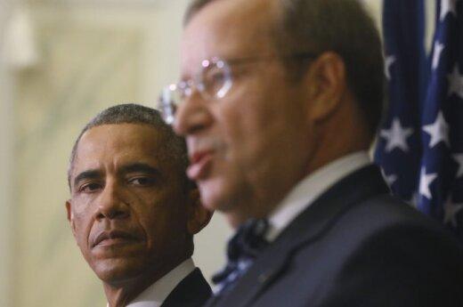 Barack Obama and Toomas Hendrik Ilves