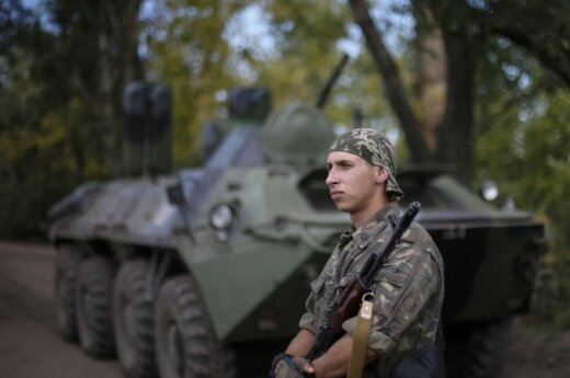 Ukraine's soldiers in Slovyansk