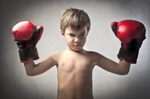 vaikas, berniukas, muštynės, boksas, agresija, sportas, pyktis