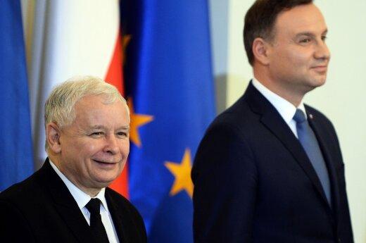 Jaroslaw Kaczynski and President Adrzej Duda