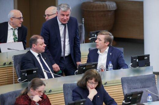 Saulius Skvernelis, Rimantas Sinkevičius, Ramūnas Karbauskis