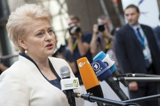 President Grybauskaitė: New sanctions over Ukraine are not sufficient