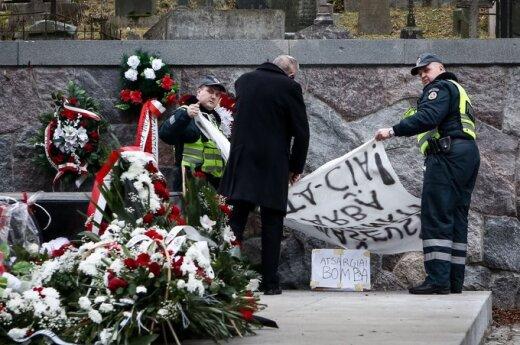 Zdewastowano mauzoleum marszałka Józefa Piłsudskiego na Rossie