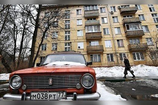 """Rusija ketina nušluoti tūkstančius """"chruščiovkių"""": gyventojai – nežinomybėje"""