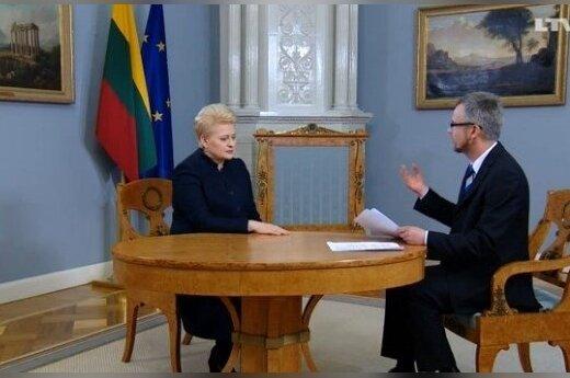 President Dalia Grybauskaitė interviewed by Gundars Reders. LTV screenshot