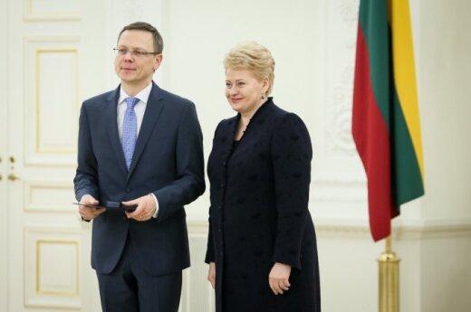 Modestas Naudžius and Dalia Grybauskaitė