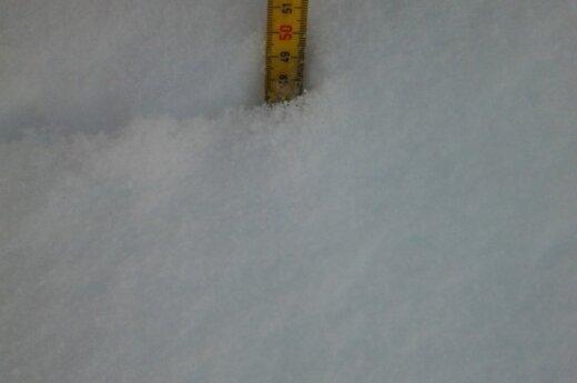 Žemaitijoje - pusės metro sniego sluoksnis?