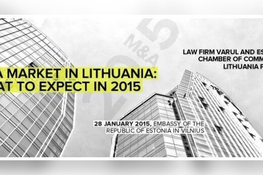 Estonian Embassy in Vilnius to host M&A conference