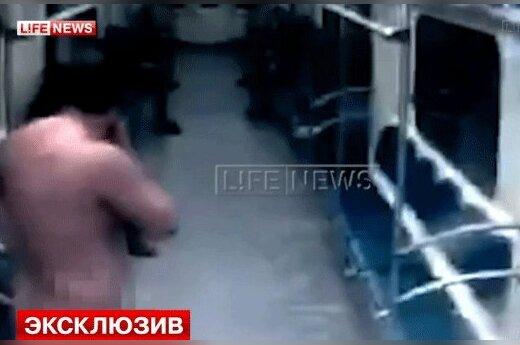 В Московском метрополитене прокатился голый пассажир (Видео +18)