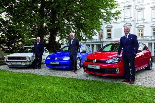 Volkswagen Golf dizaineriai: (iš kairės) G.Giugiaro, H.Warkussas ir W. de Silva