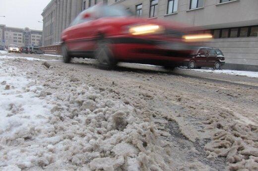 Условия на дорогах Литвы сложные