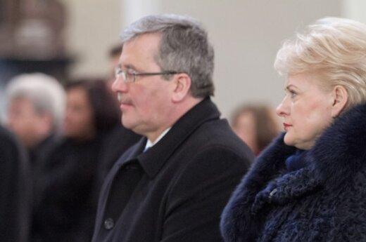 Bronislawas Komorowkis ir Dalia Grybauskaitė