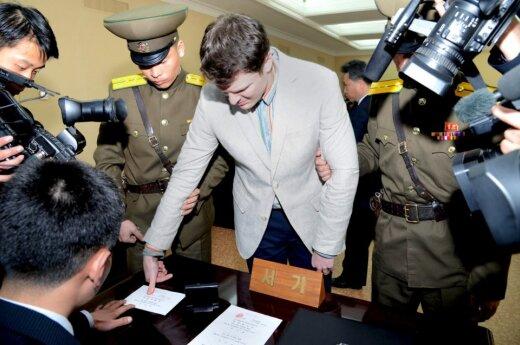 Otto Warmbieras Š. Korėjos nelaisvėje