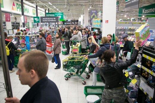 В магазинах Prisma люди стоят в очередях больше часа
