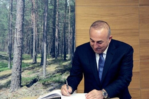 Turkey's Foreign Minister Mevlut Cavusoglu. Photo courtesy of Lithuanian MFA