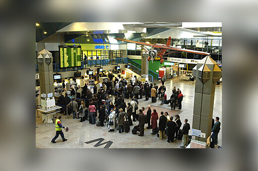 Vilniaus oro uostas, keleiviai, išvykimas