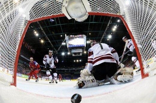 Pasaulio ledo ritulio čempionatas: Rusija - Latvija. Ilja Kovalčiuko įvartis