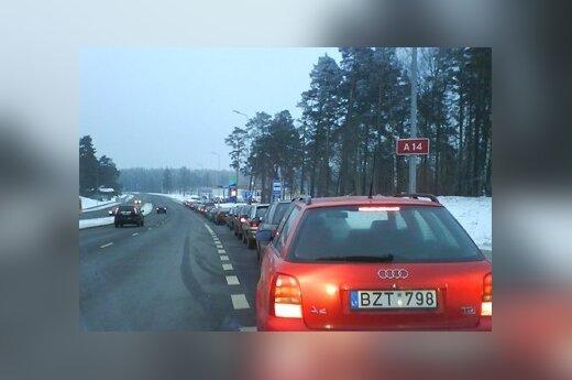 Литовец тратит 300 литов в месяц на бензин