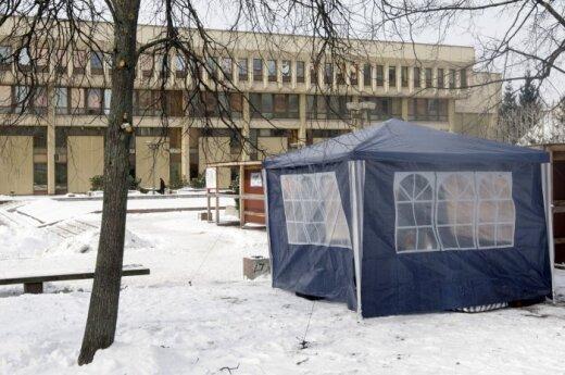 Bado akcija prie Seimo