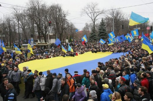 Ukrainiečiai protestuoja Kijeve 47RS131201A707