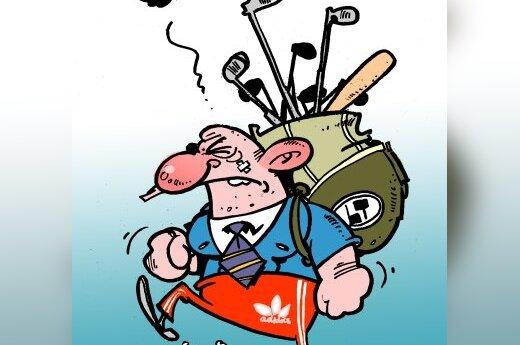 Lietuvis emigrantas - karikatūra