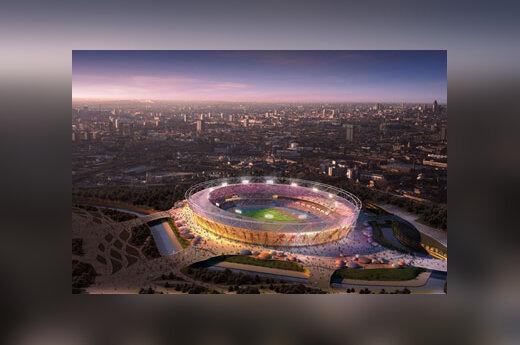 Nuotraukoje - 2012 metų Olimpinėms žaidynėms Londone statomo 80 tūkst. vietų stadiono vizualizacija