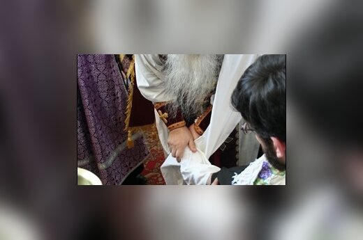 Филарет омыл ноги двенадцати священникам