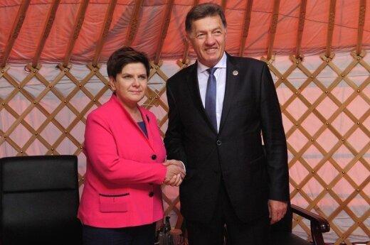 Beata Szydło, Algirdas Butkevičius.fot. P. Tracz / KPRM