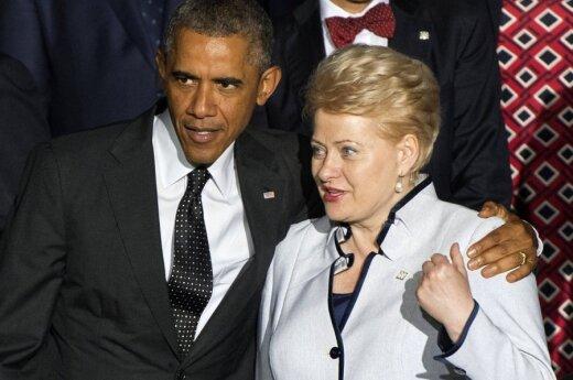 US President Barack Obama and Lithuania's Dalia Grybauskaitė