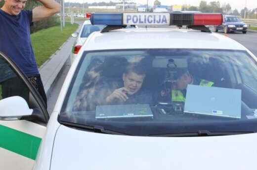 Рейд в Вильнюсе: цыган без водительских прав попался в седьмой раз