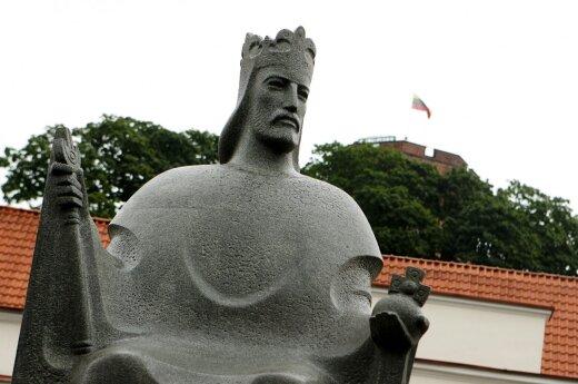 The King Mindaugas monument in Vilnius