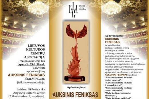 """Į garbingą apdovanojimą """"Auksinis Feniksas"""" pretenduoja ir plungiškiai"""
