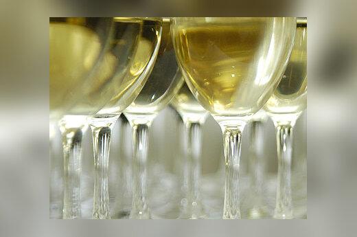 Vynas, baltas, alkoholis, taurės
