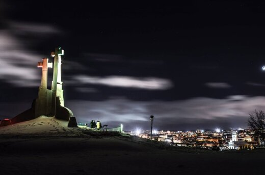 Vilniečio nuotraukose įamžintas spindintis Vilnius