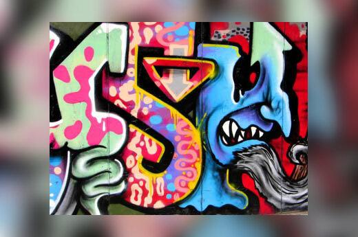 <i>Graffiti</i>, piešinys ant sienos