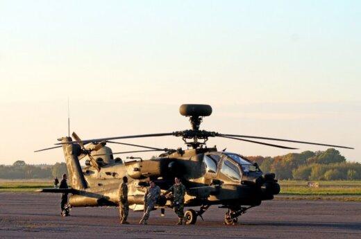 В Каунасе приземлились вертолеты ВВС США