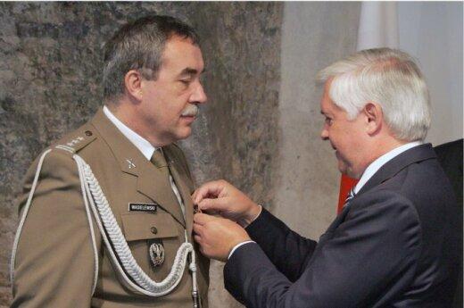 Odznaczono attache obrony przy ambasadzie RP na Litwie Zbigniewa Wasilewskiego, fot KAM