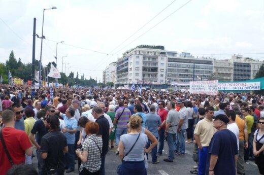 В Греции массово протестуют жители Салоник