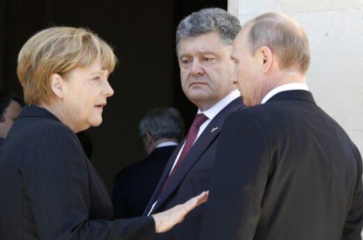 Angela Merkel, Petro Poroshenko, Vladimir Putin