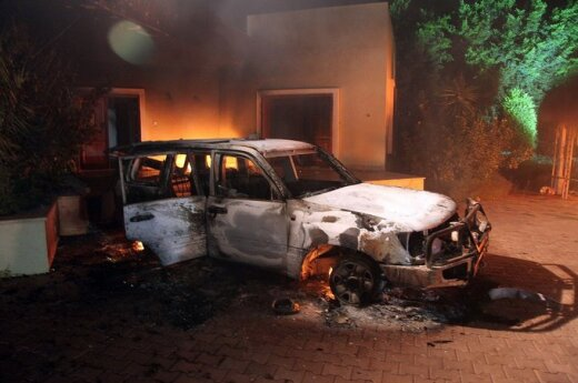 Protestuotojų išpuolis prieš Amerikos konsulatą Libijoje