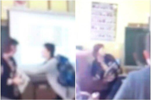 Mokykloje užfiksuotas beprecedentis elgesys su pedagoge: smurtu įtariama moksleivė