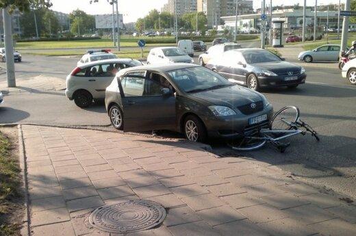 Vilniuje avariją užfiksavęs skaitytojas: būkite kelyje atidesni