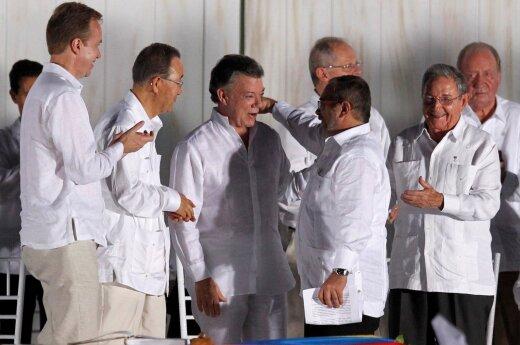Kolumbijos Senatas pritarė taikos susitarimui su FARC