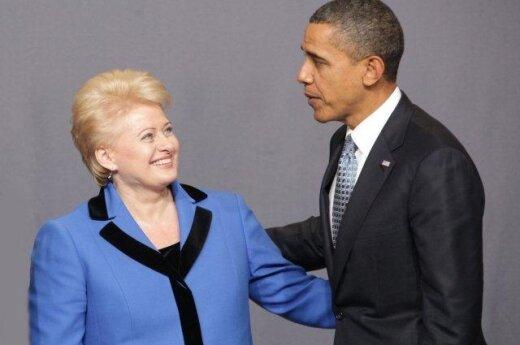 Dalia Grybauskaitė ir Barakas Obama    (Dž. Barysaitės nuotr.)