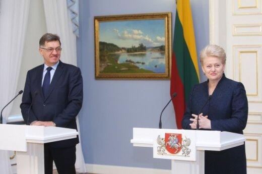 Prime Minister Algirdas Butkevičius and President Dalia Grybauskaitė