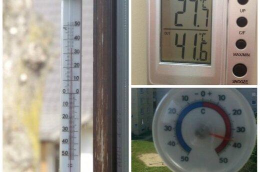 Termometro stulpelyje - neįtikėtini rodmenys